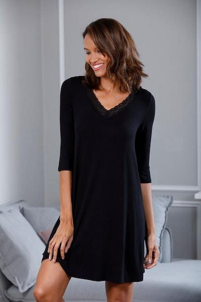 s.Oliver Nachthemd in schwarz, Produktansicht
