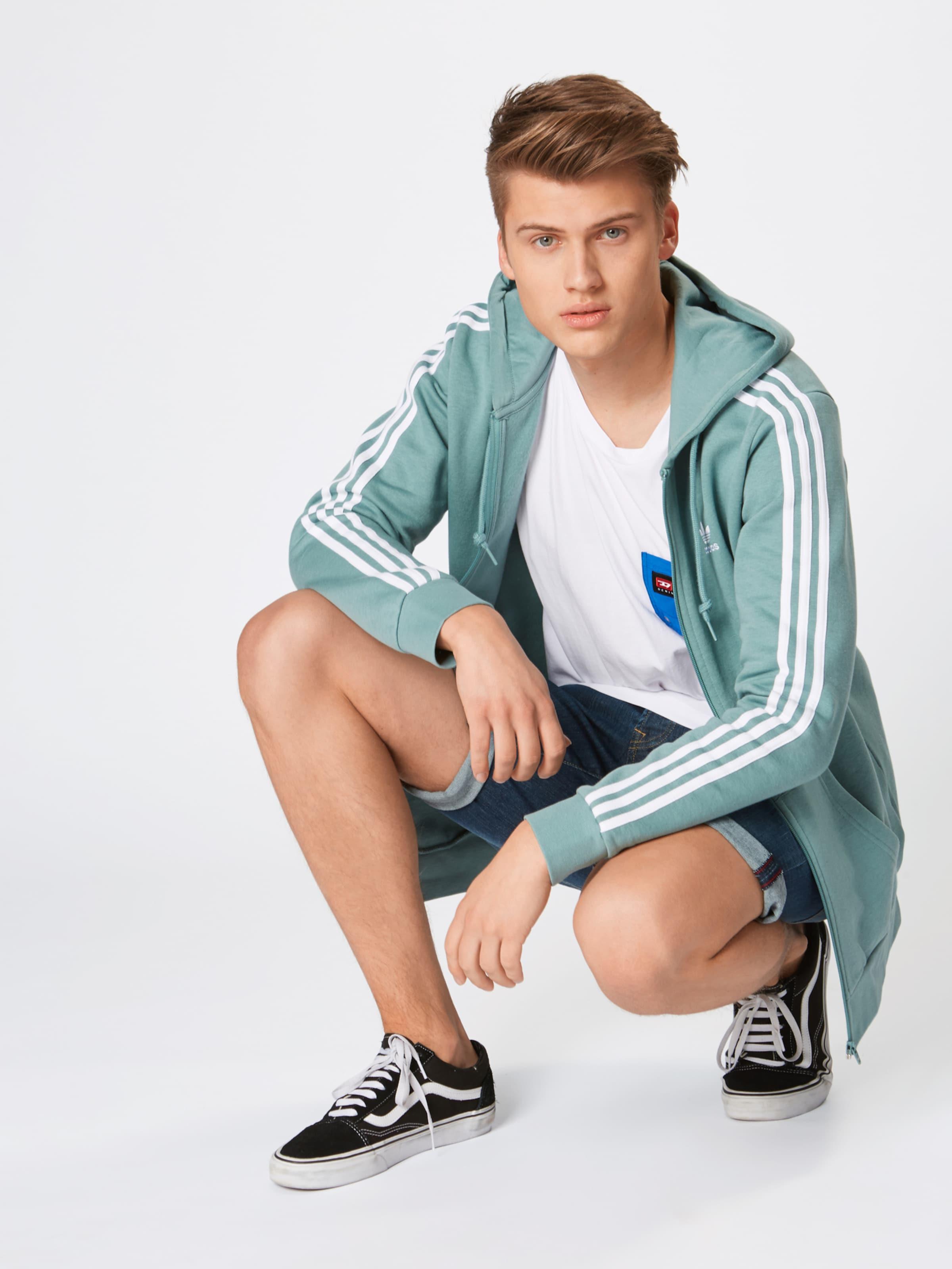 Adidas '3 Sweatjacke Fz' MintWeiß Originals stripes In L4A5Rj