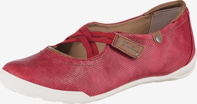 MUSTANG Slipper in braun / rot, Produktansicht