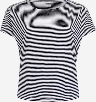 Urban Classics Curvy Shirt 'Ladies Yarn Dyed Baby Stripe Tee' in de kleur Navy / Wit, Productweergave