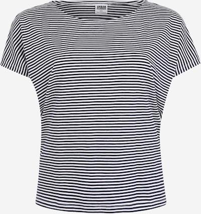 Urban Classics Curvy Shirt  'Ladies Yarn Dyed Baby Stripe Tee' in navy / weiß, Produktansicht