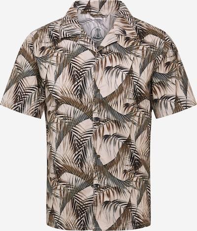 Herrlicher Hemd 'Resor Printed Poplin' in grau, Produktansicht