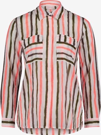 Cartoon Langarm-Bluse mit aufgesetzter Brusttasche in pink / weiß, Produktansicht