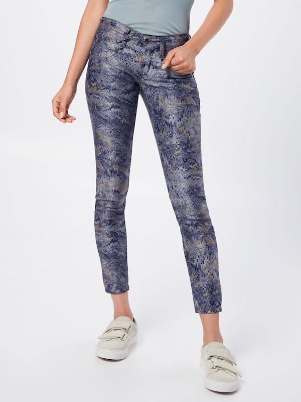 Gang Jeans 'NENA CROPPED - chill print' in blue denim: Frontalansicht
