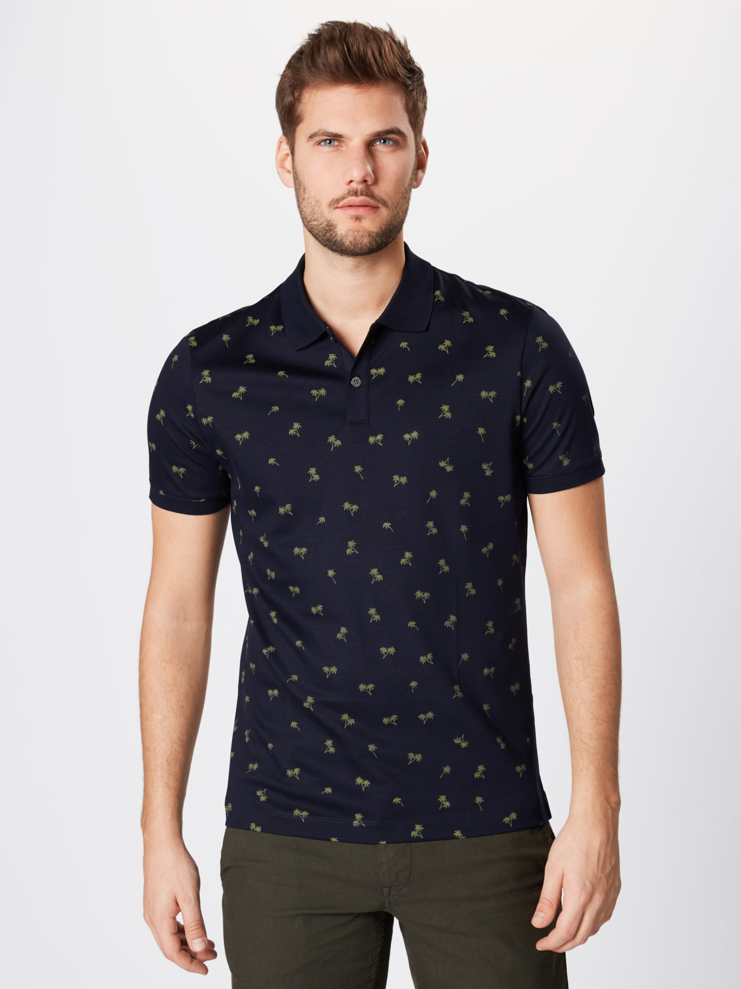 In Geo Banana Poloshirt Navy Republic Polo' Palm 'lux 8nOPk0Xw