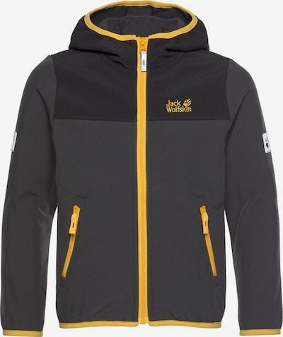 JACK WOLFSKIN Toiminnallinen takki 'Fourwinds' värissä kullankeltainen / antrasiitti, Tuotenäkymä