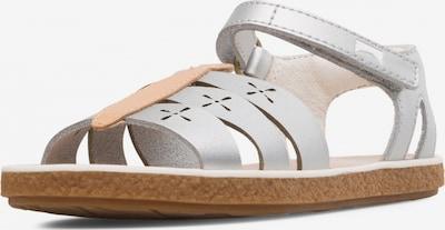 CAMPER Sandale 'Miko' in hellbraun / silber / weiß, Produktansicht