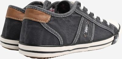 MUSTANG Låg sneaker i chamois / svartmelerad: Sedd bakifrån