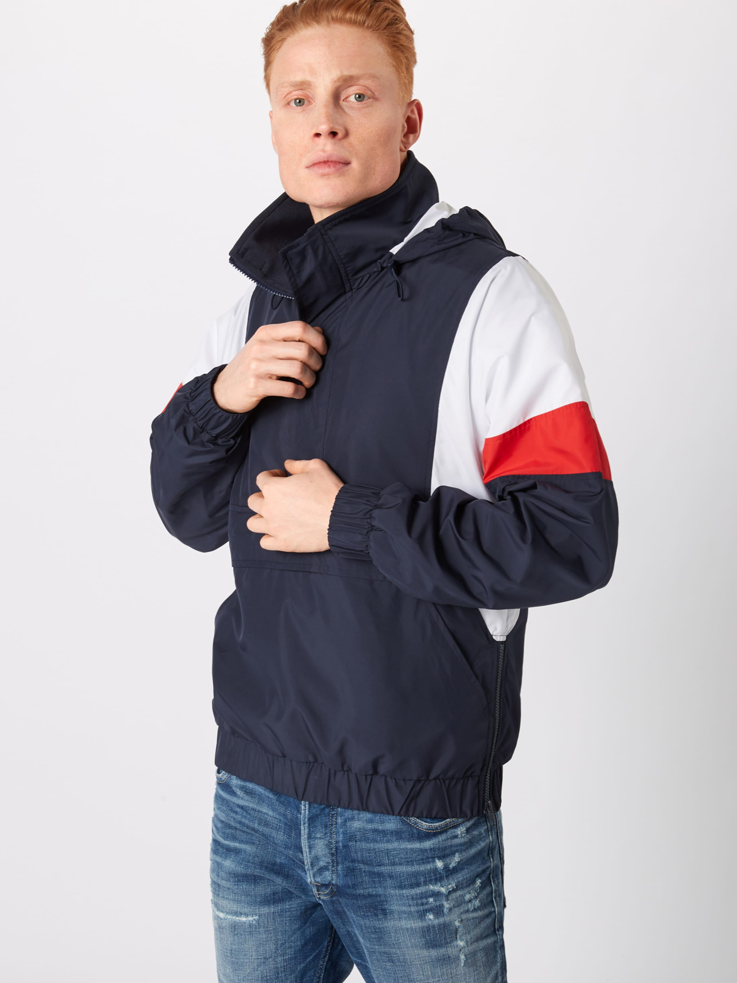 Classics tone In 3 Urban Weiß NavyRot Pull Jacke Over Jacket' 'light XiuZPk