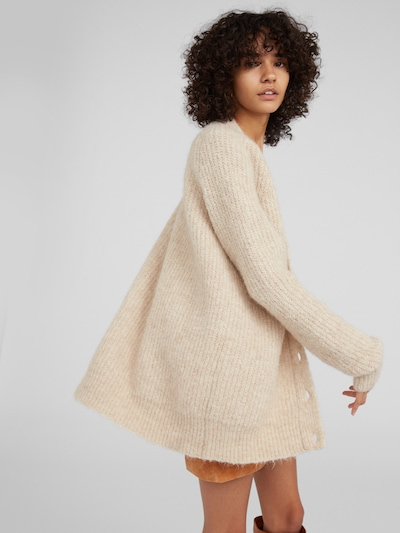 EDITED Strickjacke 'Eliandro' in beige, Modelansicht