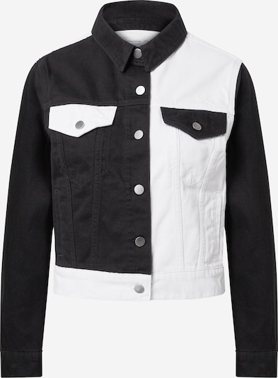 NU-IN Jacke in black denim / white denim, Produktansicht