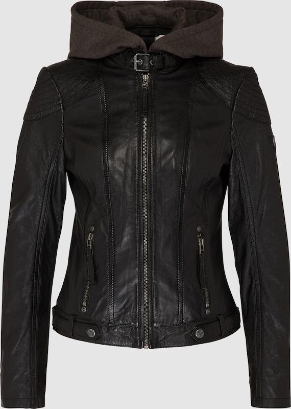 Gipsy Lederjacke mit Kapuze 'Casey' in schwarz  Mode neue Kleidung