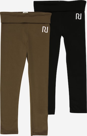 River Island Leggings 'FOLD OVER' in khaki / schwarz, Produktansicht