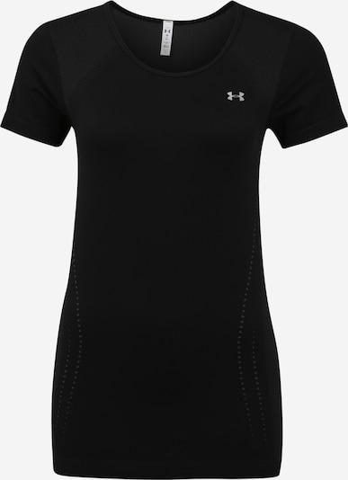 UNDER ARMOUR Functioneel shirt 'Seamless' in de kleur Zilvergrijs / Zwart, Productweergave