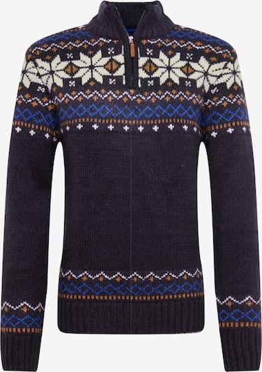BLEND Pullover in navy / royalblau / goldgelb / weiß, Produktansicht