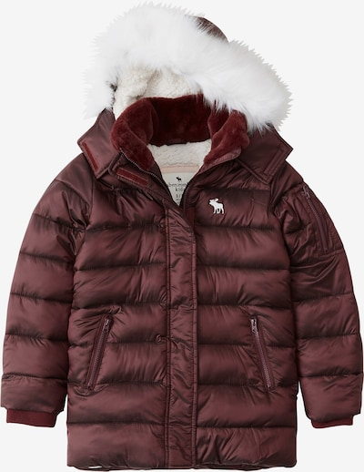 Abercrombie & Fitch Winterjas in de kleur Bourgogne, Productweergave