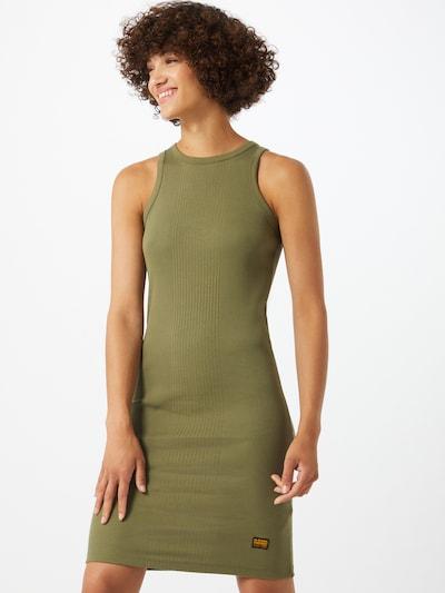 G-Star RAW Kleid 'Rib Tank' in oliv, Modelansicht