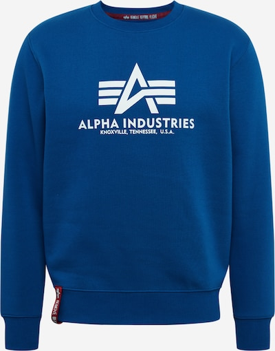 ALPHA INDUSTRIES Sweatshirt 'Basic' in blau, Produktansicht