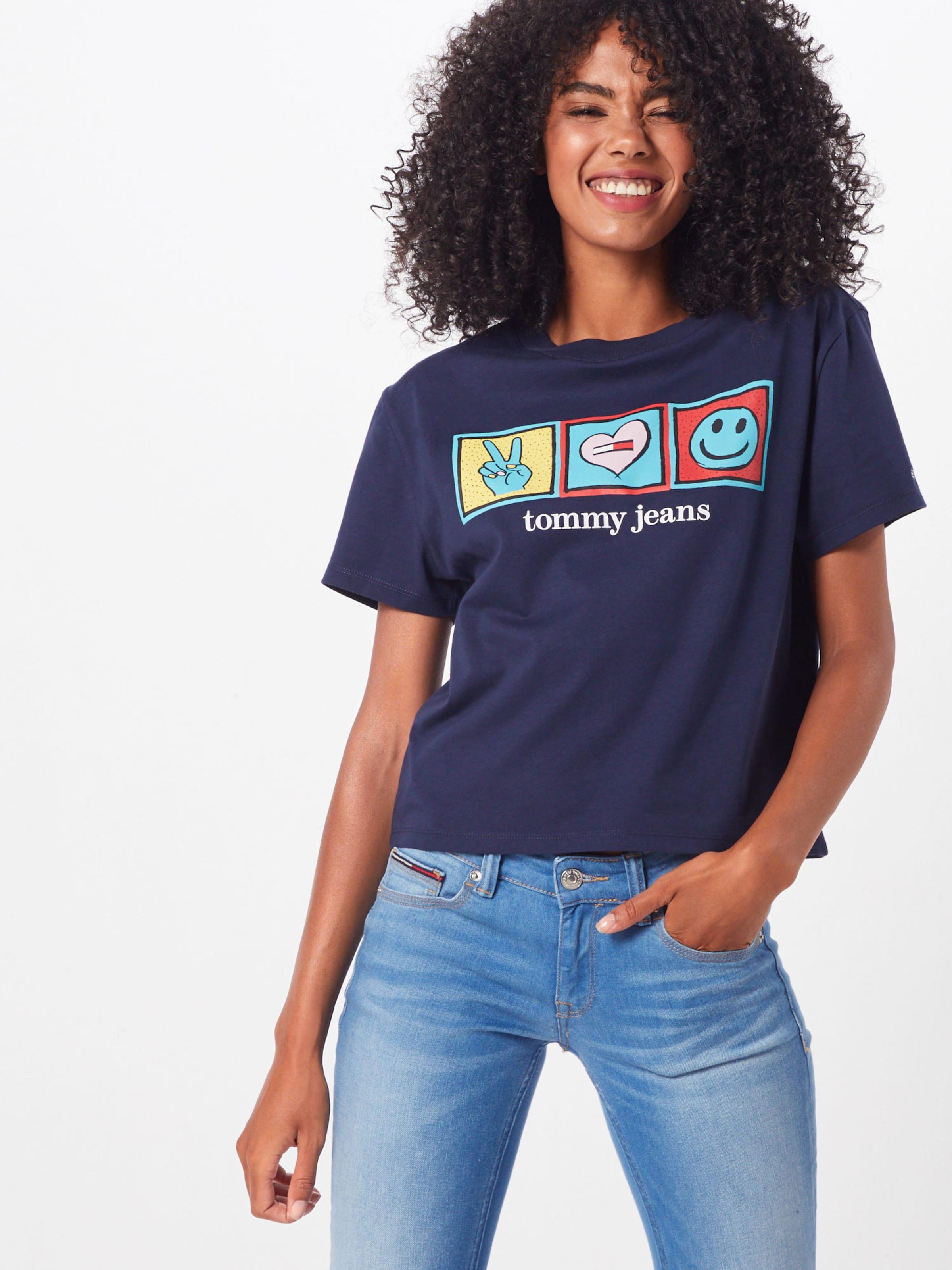 Tommy NavyMischfarben Positive T shirt In Jeans 'tjw Tee' TlK15uFJc3