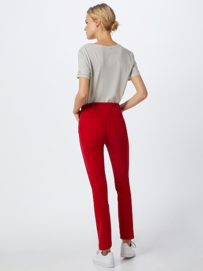 Pantaloni 'Savelvia-D' BOSS pe roșu: Privire spate