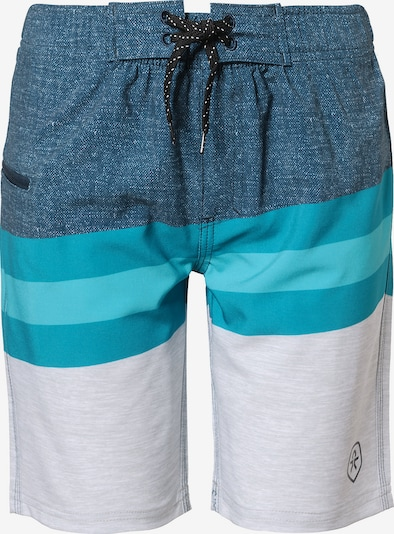 COLOR KIDS Badeshorts 'Kenny' in himmelblau / hellblau / weiß, Produktansicht