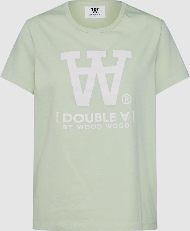 WOOD WOOD T-Shirt 'UMA' in mint   weiß  Freizeit, schlank, schlank