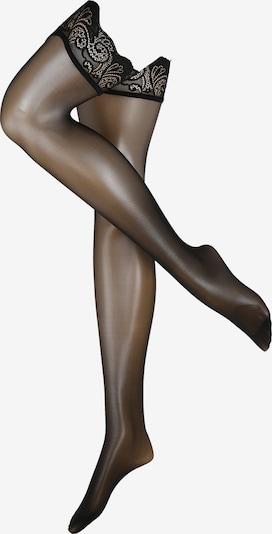 FALKE Chaussettes fines 'Matt Deluxe 20 DEN' en noir, Vue avec produit