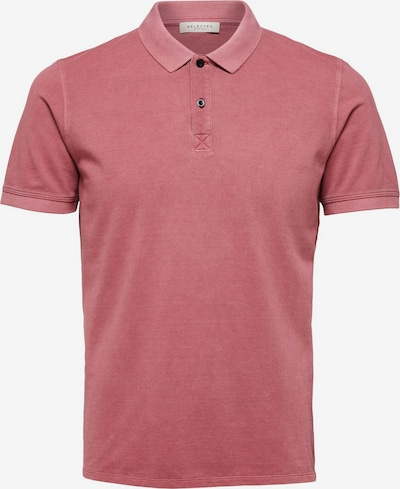 SELECTED HOMME Baumwollpikee Poloshirt in rot, Produktansicht