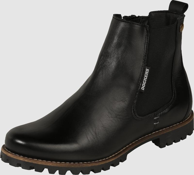 dockers by gerli chelsea boots aus leder in schwarz about you. Black Bedroom Furniture Sets. Home Design Ideas