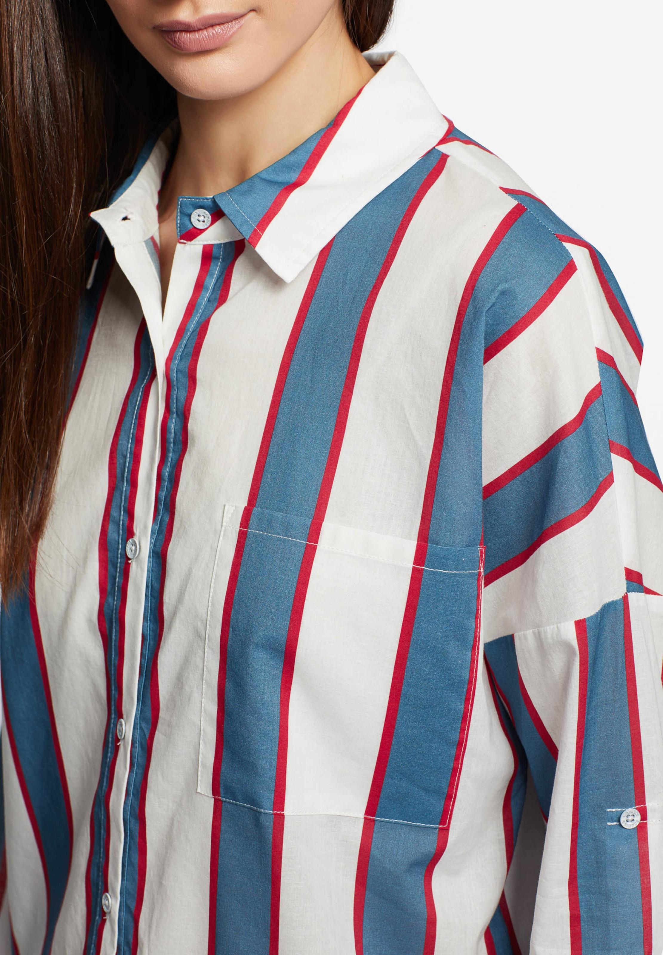 Khujo Chemisier En Blanc Bleu RoiRouge 'junia' wkOTiuPXZ