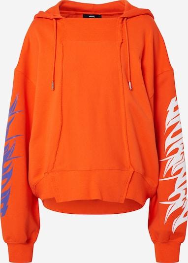 Bluză de molton 'KREEN' DIESEL pe portocaliu, Vizualizare produs