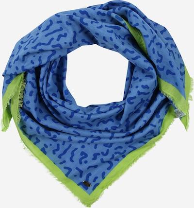 ESPRIT Szalik 'Memphis Squa' w kolorze niebieski / limonkam: Widok z przodu