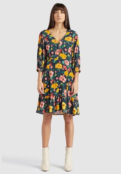khujo Kleid 'SAVORY' in dunkelblau / gelb / rot, Modelansicht
