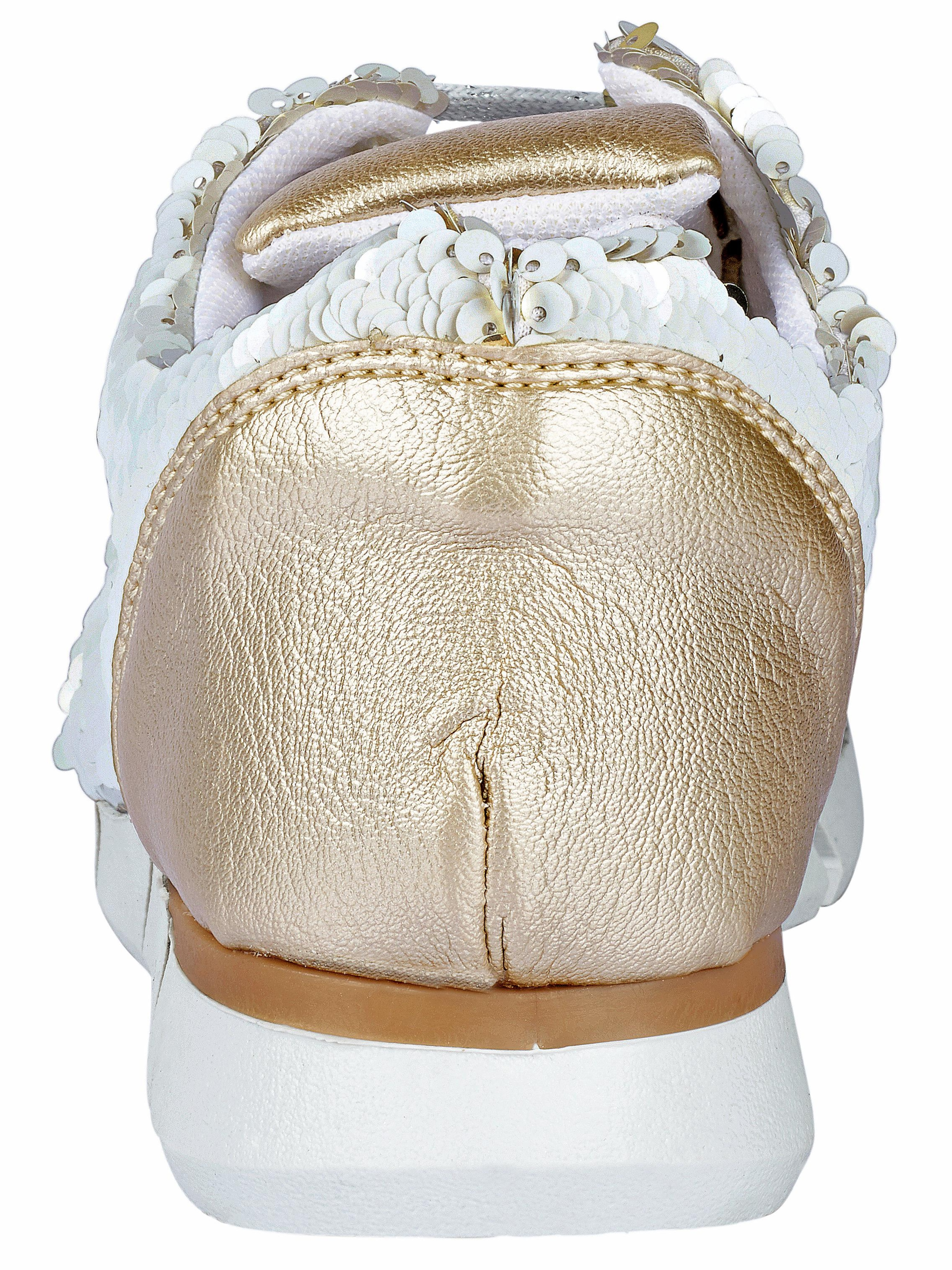 Conti GoldWeiß In pailletten Two tone Andrea Sneaker Mit sxtQhrdC