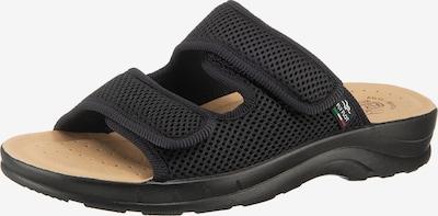 FLY FLOT Komfort-Pantoletten in schwarz, Produktansicht