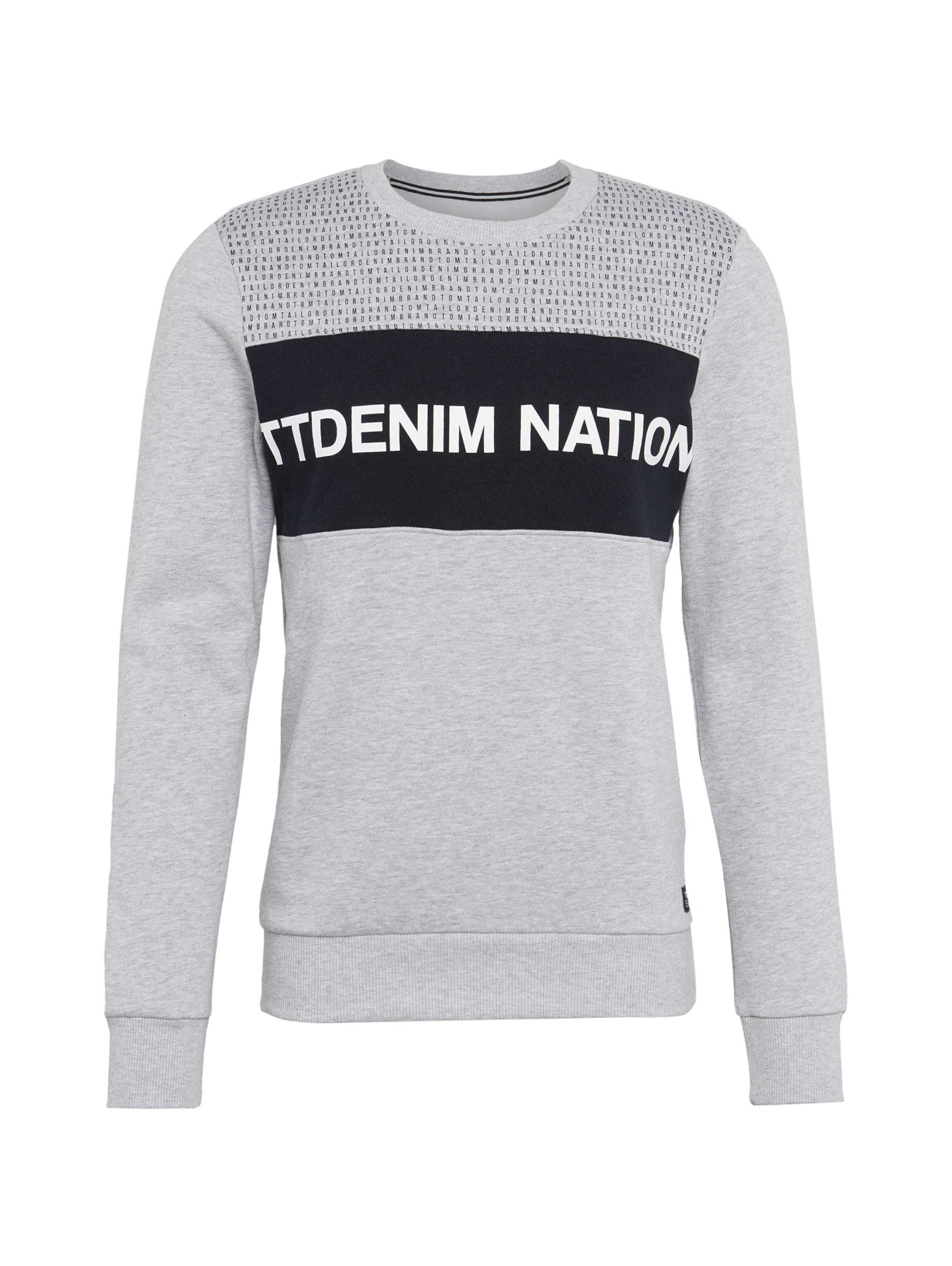 Tom Weiß Tailor NachtblauHellgrau Denim Sweatshirt In sxBhrdCtoQ