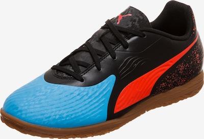 PUMA Fußballschuh 'One 19.4 IT' in neonblau / orangerot / schwarz, Produktansicht