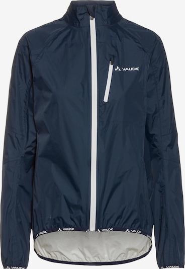 VAUDE Fahrradjacke 'Drop Jacket III' in dunkelblau / weiß, Produktansicht