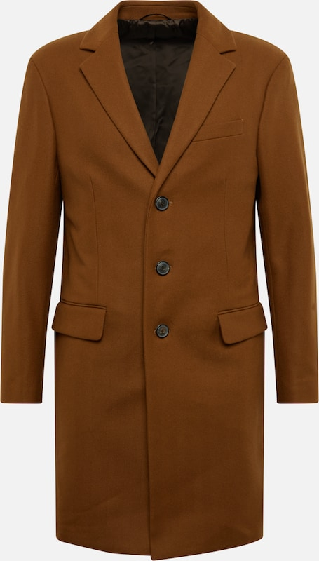Banana Republic Mantel 'WOOL CASHMERE BLEND HERRINGBONE TOPCOAT' in karamell, Produktansicht