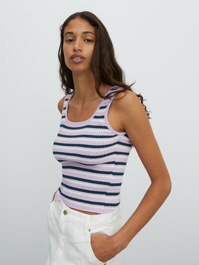 EDITED Tops en tricot 'Juliana' en violet / rose / blanc cassé, Vue avec modèle