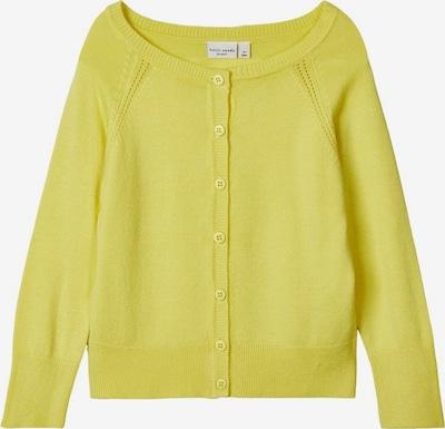 NAME IT Viskose Strickjacke in gelb, Produktansicht