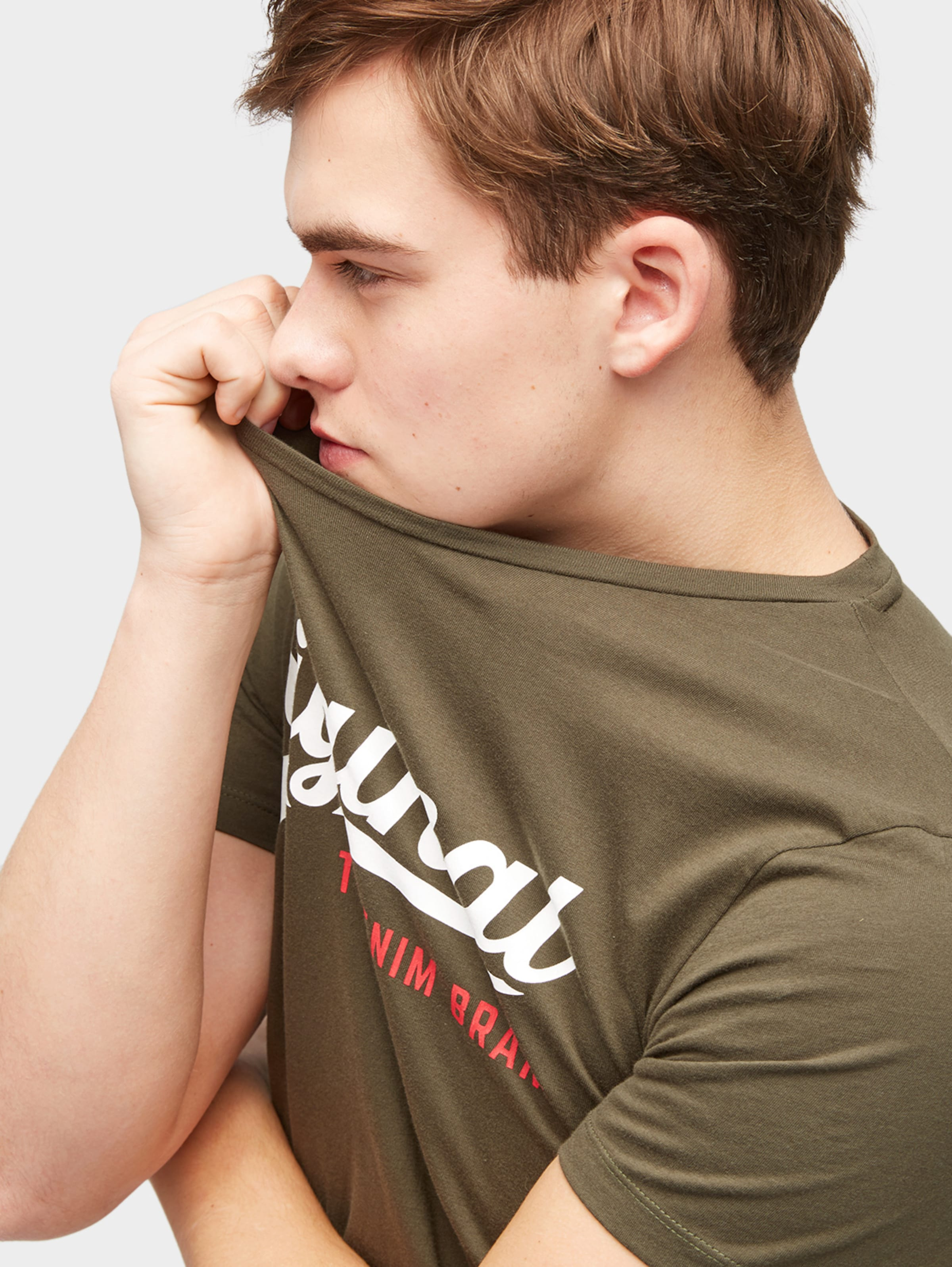 TOM TAILOR DENIM T-Shirt mit Logo-Motiv Schnelle Lieferung pYPTBTz