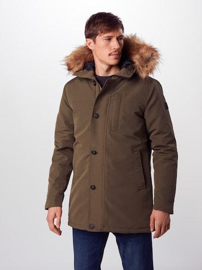 Mavi Mantel in khaki, Modelansicht