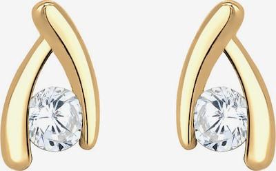 ELLI PREMIUM Ohrringe in gold / transparent, Produktansicht