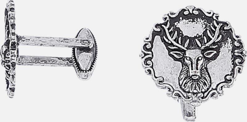 Alpenflüstern Trachtenmanschettenknöpfe mit Hirschkopfmotiv