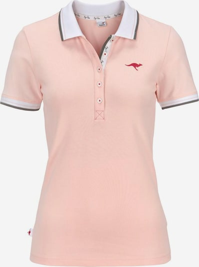 KangaROOS Poloshirt in rosa / weiß, Produktansicht
