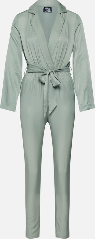 Parallel Lines Jumpsuit 'Cadet Boilersuit' in de kleur Groen, Productweergave