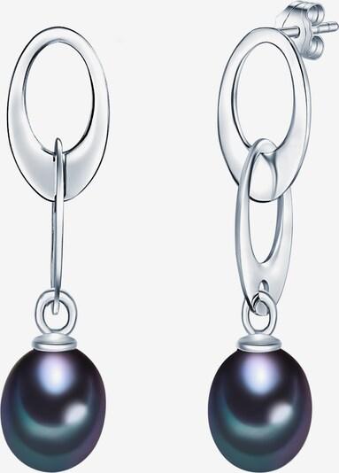 Valero Pearls Silberohrstecker mit Süßwasser-Zuchtperlen in enzian / silber, Produktansicht