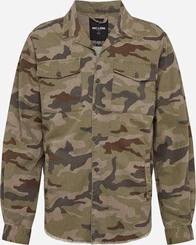 Only & Sons Tussenjas 'ONSOVE CAMO  SHACKET JKT' in de kleur Beige / Donkergroen, Productweergave
