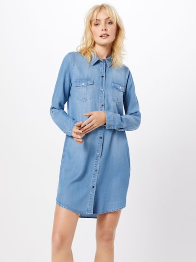 VERO MODA Kleid 'VMSILLA' in blue denim, Modelansicht